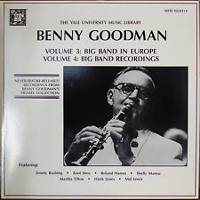 YALE UNIVERSITY MUSIC LIBRARY BENNY GOODMAN Vol. 3 & 4-M1989 2LP UNRELEASED