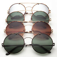 Classic Vintage Style Retro Hippie Round Style Metal Frame Sunglasses Flat Top g