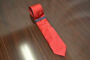 0060 NEW Tommy Hilfiger Mens Textured Necktie Red Pin Dotted MSRP $59