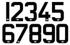 Manchester United 1980's Vinyl Football Shirt Soccer Numbers Heat Print Football