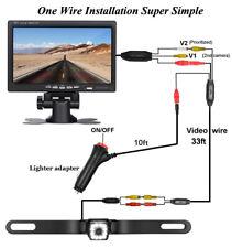 Car Truck Caravan Van Rear View Backup Camera & 7 inch LCD Monitor Switch On/Off