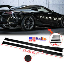 86.6'' Carbon Fiber Side Skirts Rocker Panel Lip For LEXUS IS200T IS250 IS350 US