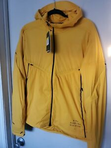 Men's Nike Run Division Yellow Hooded Running Jacket CU7889-743 Size Small
