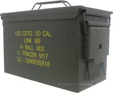 Regular-Size .50 Caliber Metal Ammo Box Crates, Ammunition Boxes, Ammo Crates