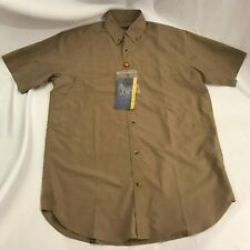 NWT Men's Beretta V2-Tech Short Sleeve Shooting Shirt Tan Size M