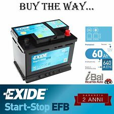 BATTERIA EXIDE START-STOP EFB - EL600 - AGM - 640EN - FIAT PUNTO EVO 1.4