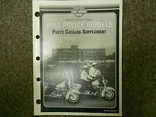 1997 Harley Davidson Police Models Parts Catalog Supplement Manual New 1997