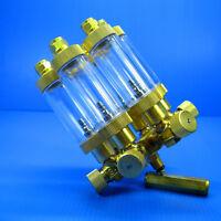 6 way Brass CO2 splitter +Bubble Counter & CHECK VALVE