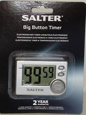 New Salter Big Button Digital Electronic Kitchen Timer Silver 397