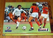 FOOTBALL ONZE 1976 POSTER GERD MÜLLER BOMBER DEUTSCHLAND BAYERN MARIUS TRESOR OM