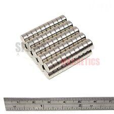 100 Imanes 8x4 Mm de Neodimio Disco Fuerte Imán Redondo 8 mm diámetro x 4 mm Artesanía Nevera