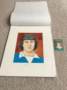 1978 Original Artwork Brian Talbot Ipswich Town FC as used by Cornish Match Co