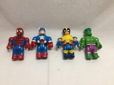 Mega Bloks Marvel Spiderman,,Captain America, WOLVERINE and the Hulk