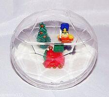 Toy Soldier Snow Globe Plastic Diamond Shape Christmas Holiday Snowdome Vintage