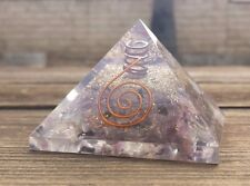 LARGE (60-65mm) PURPLE FLUORITE ORGONE GEMSTONE PYRAMID LARGE PYRAMID ORGONITE