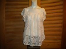 Marianne Off the Shoulder Blouse Ivory Lace Plus Size 3X #5821