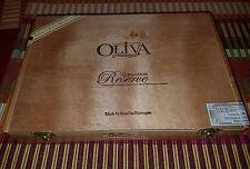OLIVA WOOD CIGAR BOX Nicaraguan Hand Made Connecticut Reserve