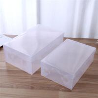 15X Heavy Duty Men Stackable Foldable Plastic Shoe Storage Boxes Organiser