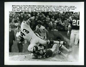 George Farmer & Jim Duncan 1970 Press Photo Baltimore Colts Chicago Bears