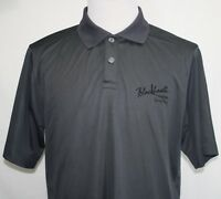 BLACKHEART PREMIUM SPICY RUM Mens XL Polo Shirt Gunmetal Gray Pristine!
