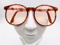 Vintage Brown Round Horn-Rimmed Sunglasses USA FRAMES ONLY