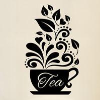 Love Tea Cups Kitchen Wall Coffee Sticker Vinyl Decal Art Restaurant Pub Decor