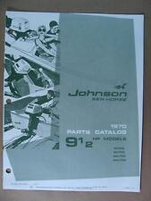 1970 OMC JOHNSON 9-1/2 HP 9.5 SEA HORSE OUTBOARD MOTOR PARTS CATALOG 384395