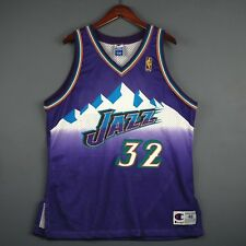 100% Authentic Karl Malone Vintage Champion Jazz NBA @50th Jersey Size 48 L XL