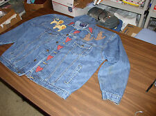Vintage-Ladies Heavy Duty Denim, 4 pocket Jacket with Noah's Ark Applique