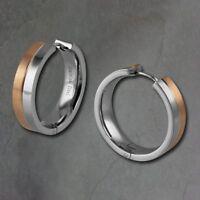 S855 Edelstahl Damen Armband Silber Rosegold Verschluss Armkette Armschmuck