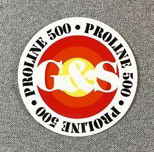 Gordon & Smith G&S PROLINE 500 Skateboard Sticker original G&S reissue 3in si