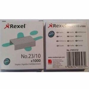 Rexel Tacker No 23/10 Staples 40-70 Sheets 1000/Box 2101212*