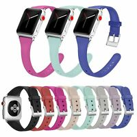 Silicon Replacement WristBand Strap for Apple Watch iWatch 1 2 3 4 38/40/42/44mm