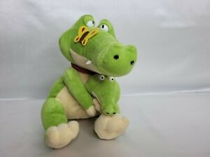 'TEDDY AND FRIENDS'  CROCODILE WITH BUTTERFLY ON NOSE AND BABY IN ARMS 20 cm