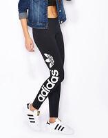 Adidas Originals Linear Trefoil Leggings Women's Pants AJ8081 Size S,M,L Black