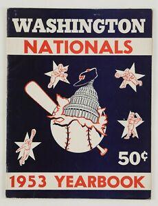 1953 Washington Nationals Baseball Yearbook