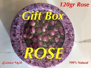 ROSE Flower Buds, NATURAL DRIED ROSE FLOWER 120g GIFT BOX, SMELLS ROSE WATER 🌹