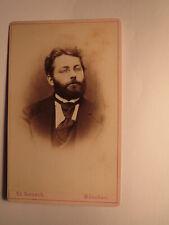 Mann mit Bart & Brille - Portrait ca. 1860/70er Jahre CDV Ed. Fentsch München