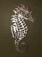 Seahorse metal wall art home decor. decor metal cutout Beach Sea Life