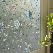 3D VIEW FROSTED STAINED STICKER GLASS STATIC CLING  PRIVACY WINDOW FILM NEW