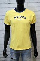 Maglia ADIDAS Uomo Taglia M Maglietta Shirt T-Shirt Polo Cotone Jersey Gialla