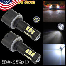 2 × 880 899 White 6000K 54SMD Light Lumen LED Bulbs Car Driving Fog Light Lamp