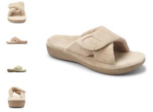 Vionic Relax Tan Terry Slide Slipper Sandal Women's sizes 5-12 NEW!!!