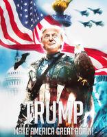 Donald Trump Captain America Pro USA  Sticker TRUMP 2020 Bald Eagle D.C. COMICS