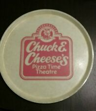 "Vintage Chuck E Cheese's pizza Time Theater 16"" serving tray"