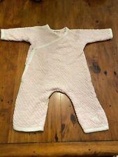 Burt's Bees Girls 0-3 Months Pink Kimno Long Sleeve Organic Cotton