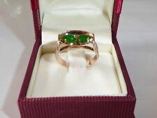 Anillo de Oro Esmeralda Verde Piedra Amarillo 585 14k 57-18,1 mm 424