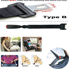 Car Seat Belt Extender 38.5 CM Black For Most Cars For Metal Tongue Width 25MM