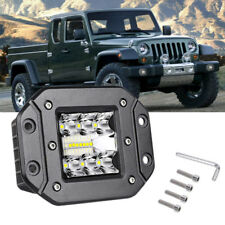 "LED Work Light Flush Mount 5"" 39W  Pods Driving Fog Off Road Truck Jeep TJ TK TL"
