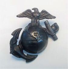 Original USMC Enlisted EGA Hat Badge, Eagle Globe Anchor, Screw Back